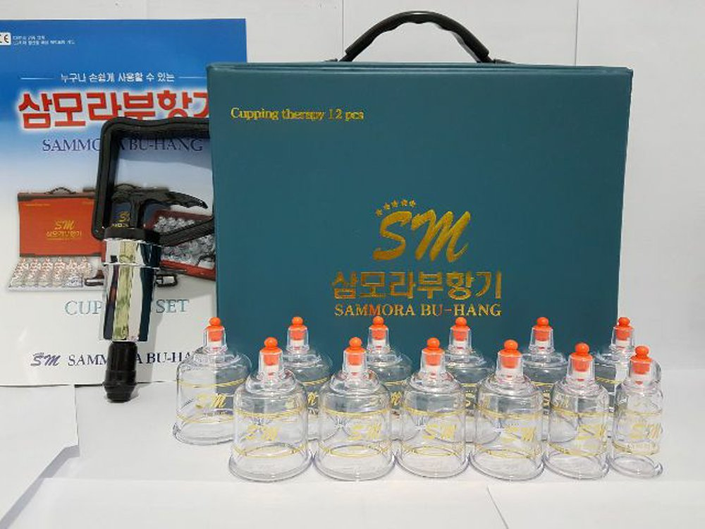 Jual alat bekam sammora korea 12 pcs biru murah di surabaya