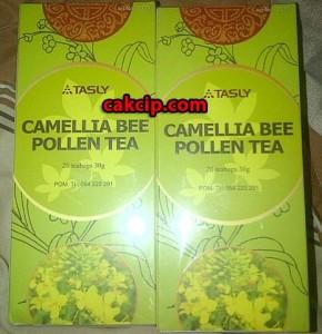 jual tasly camellia bee pollen tea murah