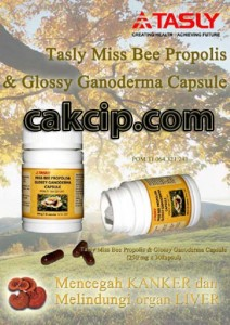 tasly miss bee propolis & glossy ganoderma murah