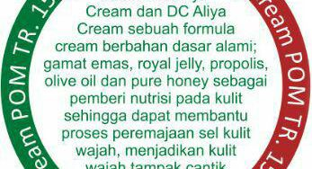 "CREAM ALIYA DAY CREAM ""PENCERAH WAJAH ALAMI"""